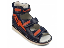 Обувь ортопедическая сандалии детские Sursil-Ortho 15-319S синий/оранжевый
