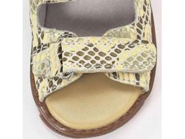 Обувь ортопедическая 04C08LZ Геракл бежевый (рептилия)