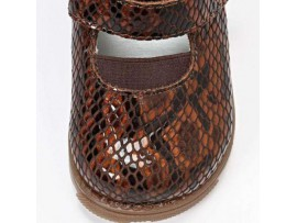 Обувь ортопедическая ФУТМАСТЕР 03A09LZ Мальвина коричневый (рептилия)