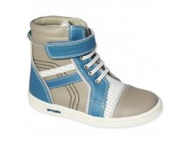 Обувь ортопедическая 7001 Ортодон серый/голубой/белый