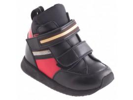 Обувь ортопедическая 011-03 черный/красный
