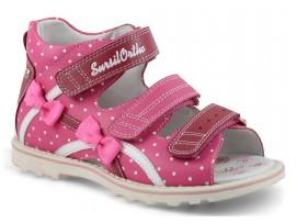 Обувь ортопедическая сандалии детские 55-197M розовый/белый