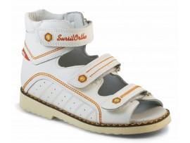 Детская обувь ортопедическая с высоким берцем СУРСИЛ-ОРТО 15-254M бел