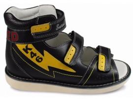 Обувь ортопедическая 15-318M Сурсил-Орто черный/желтый