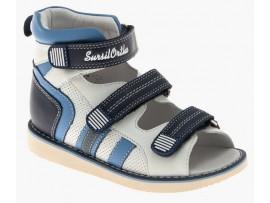 Обувь ортопед. 15-339M белый/голубой/синий