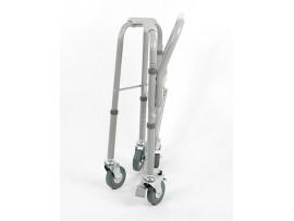 Кресло-туалет 4-х колес. с горшком и регулировкой сидения (44-57см) 10581Са